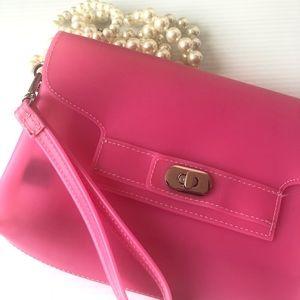 Pink Jelly Clutch